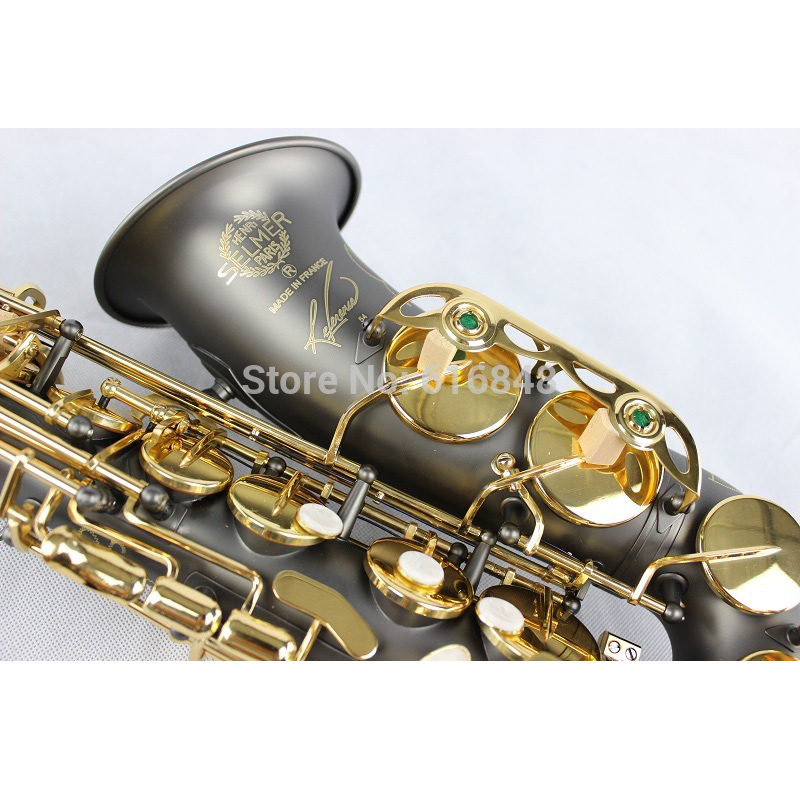 France Henri SELMER Alto Saxophone Reference 54 E Flat Black Nickel Gold Scrub Surface Pearl Button Eb Sax Case, Mouthpiece tenor saxophone free shipping selmer instrument saxophone wire drawing bronze copper 54 professional b mouthpiece sax saxophone