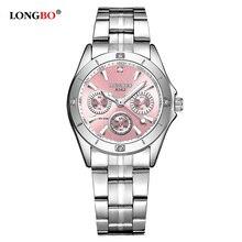 2018 New LONGBO Luxury Fashion Women Watches Casual Stainless Steel Band Quartz Waterproof Lady Watch 8342 Gift