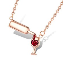 Love Wine Women Pendant Necklace