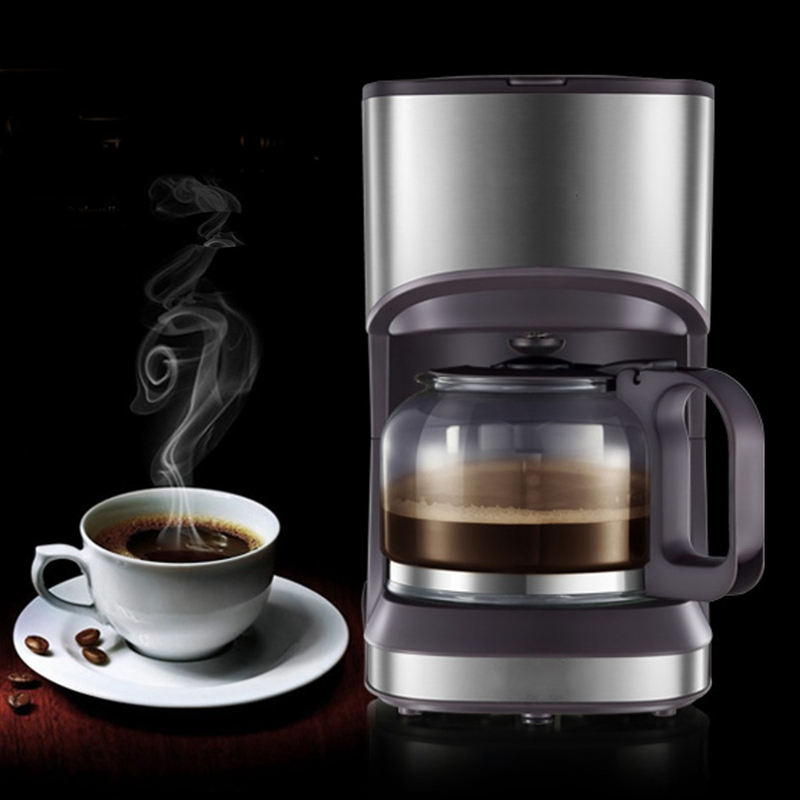 Drip Type Coffee Maker Machine Stainless Steel Home Fully Automatic Mini Coffee Making Professional Cappuccino Latte 220V 550W coffee machine home american style drip type fully automatic small mini coffee pot