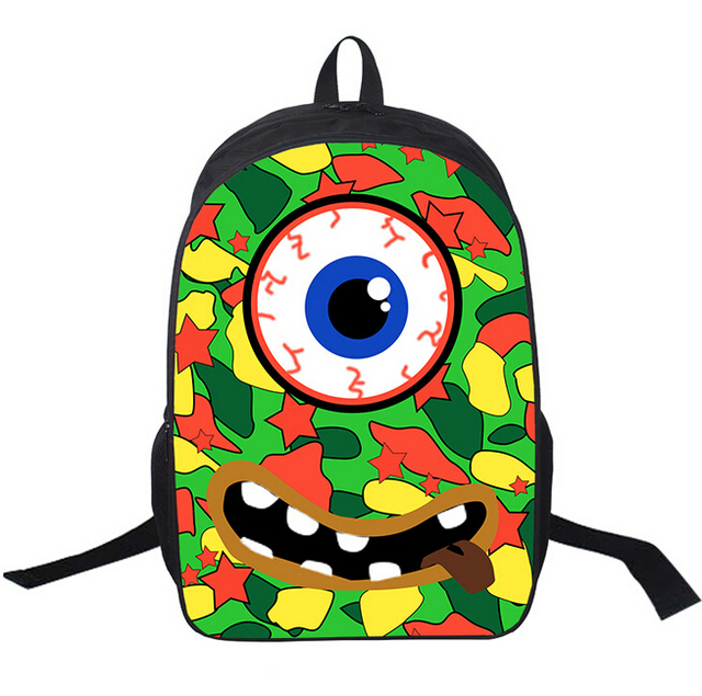high preppy primary kids school bag monster print school bag for boys cool children schoolbag child - Monster Pictures For Kids To Print