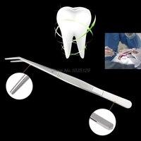 Pinças de aço inoxidável serrilhado curvo dental instrumentos cirúrgicos ferramenta dental whosale & dropship Pinças industriais     -