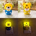 New novelty noche hogar iluminación lámpara nueva creativo colorido diseño animal lindo oso/tigre lámpara bebé bedlight emocional