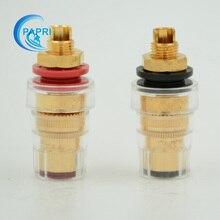 20PCS CMC 858 S Pure Brass Gold plated Speaker Amplifier Binding Post Terminal Connector Short Hread