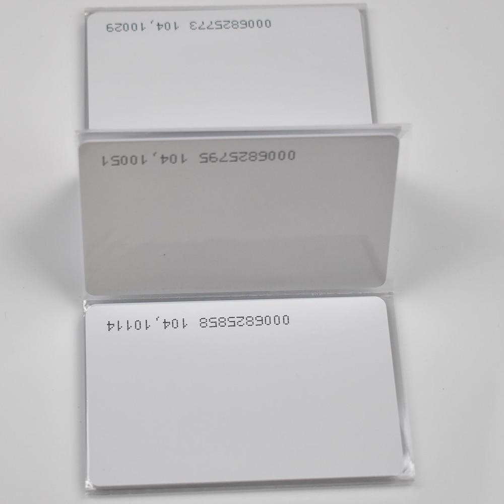 10pcs/lot  TK4100 4102 /EM 4100 Chip RFID 125KHz Blank Card Thin PVC ID Smart Card