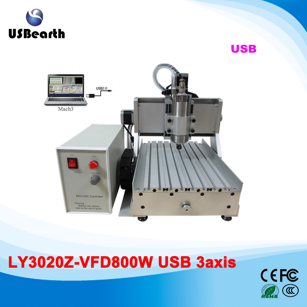 Free shipping mini desktop cnc router/cnc router engraving machine cnc 2030 800w with usb prort  цены