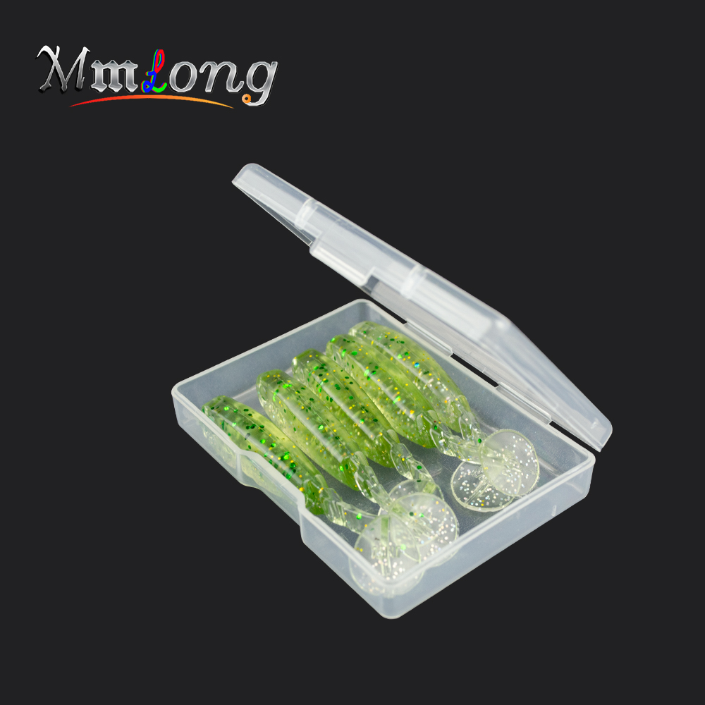 10pcs 2boxes 55mm Artificial Fishing Lure Soft Baits MT55 2.6g Tail Silicone Soft Lure Swimbaits Wobblers Fishing Tackle Pesca 30pcs set fishing lure kit hard spoon metal frog minnow jig head fishing artificial baits tackle accessories