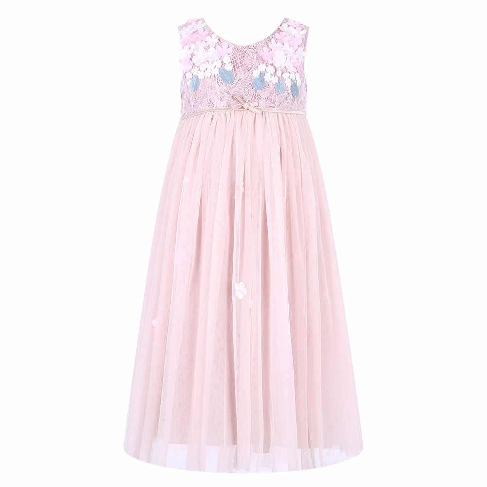 Girls Wedding Dresses 2018 Brand Summer Kids Dresses for Girls Clothing  Lace Flower Children Party Dress 50fa83ace49f