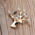 Árvore de natal broche 2016 Ramo de Árvore DIY Moda Banhado A Ouro Broche Pin Mulheres Dos Homens Collar Pinos Broche Jóias