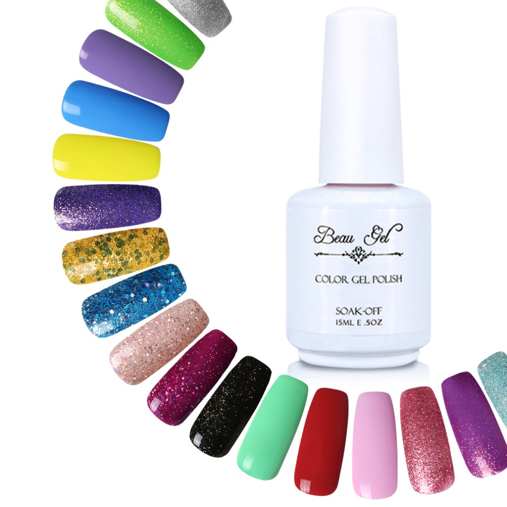 Beau Gel 15 ml Gel Nail Polish Choose Any Color UV Curing ...