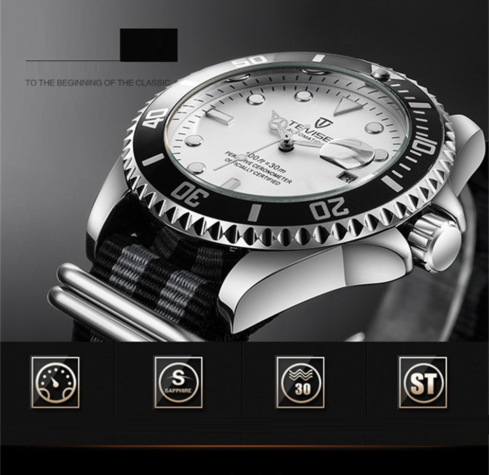 HTB1E eJB5CYBuNkHFCcq6AHtVXah Tevise Luxury Waterproof Automatic Men Mechanical Watch Auto Date Full Steel Business Top Brand Man Watches Water Resistant T801