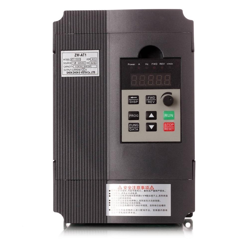 Convertisseur de fréquence Réglable Vitesse VFD Onduleur 1.5KW/2.2KW/4KW ZW-AT1 3 P 220 V Sortie pour Moteur variateur de fréquence basse wzw