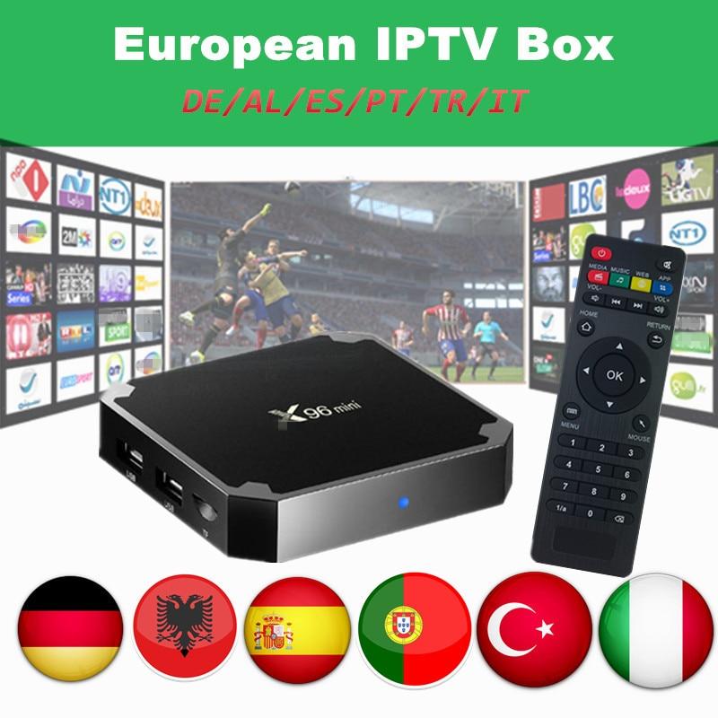 X96mini Android IPTV SmartTV Box With 3000+ IPTV Spain Germany Italy Turkey Portugal Sweden Europe Channels Mini Set Top Box X96 цена 2017