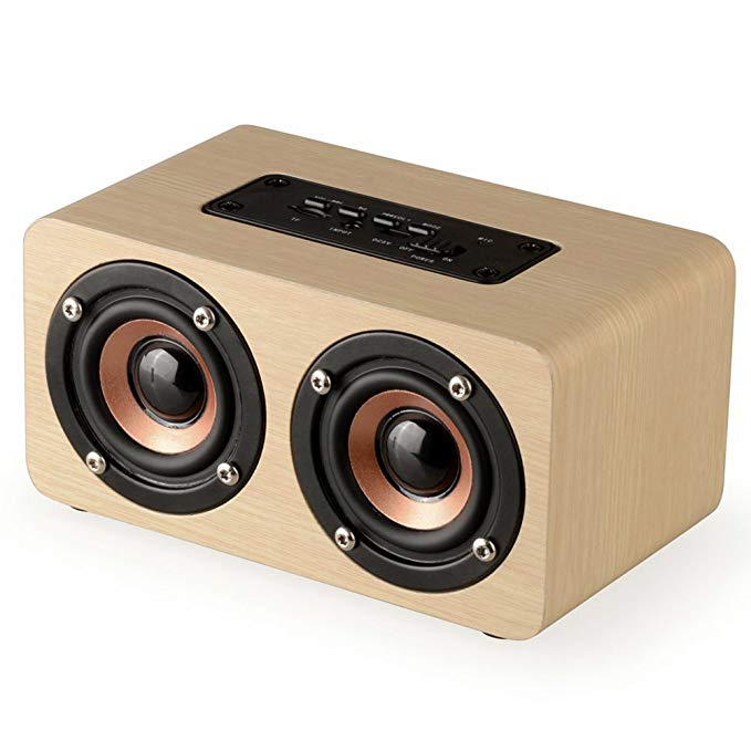 Portable Wood Bluetooth Speaker with HIFI Stereo Sound, 1500mAh Handcrafted Retro Wireless Design with Dual Passive Subwoofer original rechargeable clevo w370bat 8 li ion battery 6 87 w370s 4271 6 87 w37ss 427 k590s laptop battery 14 8v 5200mah 76 96wh