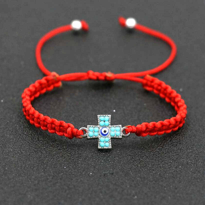 Minimalism Handmade Lucky Crosses Braid Bracelet Women Red Thread Rope Cords Bracelets Girls Boy Lovers' Jewelry Pulseira