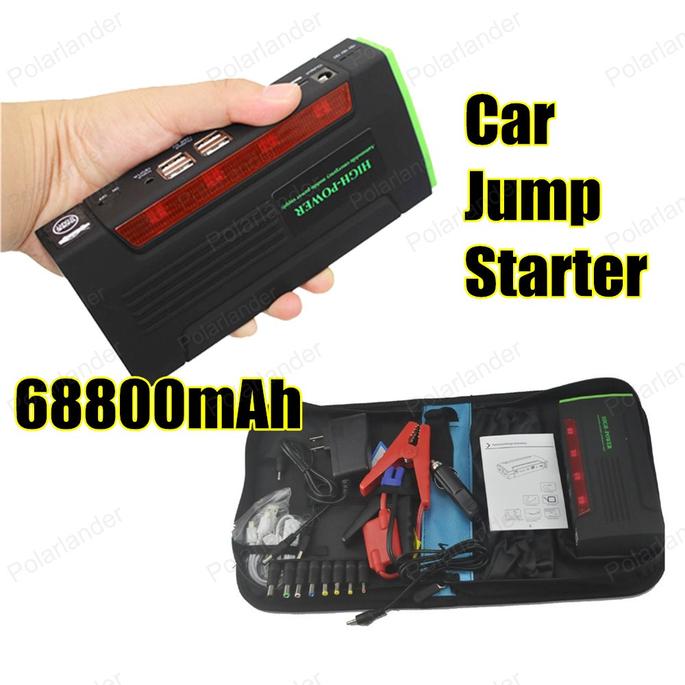 New Capacity 68800mAh Car Jump Starter Mini Portable Emergency Battery Charger for Petrol Diesel Car new