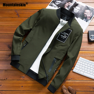Image 1 - Mountainskin מעילי Mens טייס מפציץ מעיל זכר אופנה בייסבול היפ הופ Streetwear מעילי Slim Fit מעיל מותג בגדי SA680