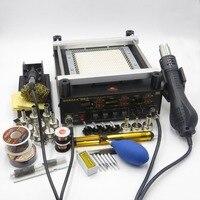 Gordak 863 3 in 1 Digita Hot Air Heat Gun BGA Rework Solder Station + Electric Soldering iron + IR Infrared Preheating Station