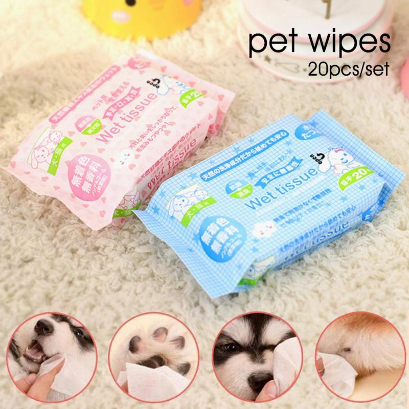 1pc Pet Wet Wipes Cat Grooming Supplies Dog Cleaning Wet
