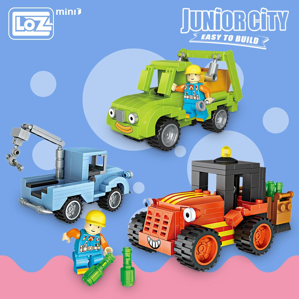 Loz Mini Blocks Machine Vehicle Car Model Forklift Crane