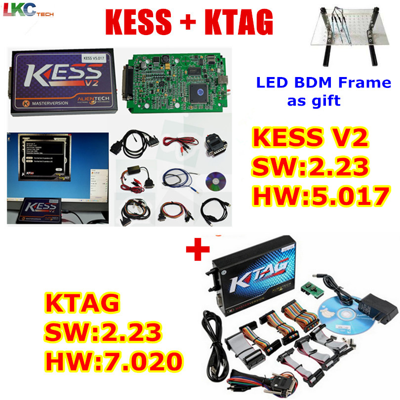 Цена за Лидер продаж KTAG KESS интернет-V5.017 KESS V2 5.017 без маркеров KTAG V7.020 OBD2 менеджер Тюнинг Комплект K-TAG 7.020 V2.23 ЭБУ программист