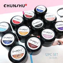 12 шт УФ/Гель лак для ногтей chunshu Цветной Гель дизайна все