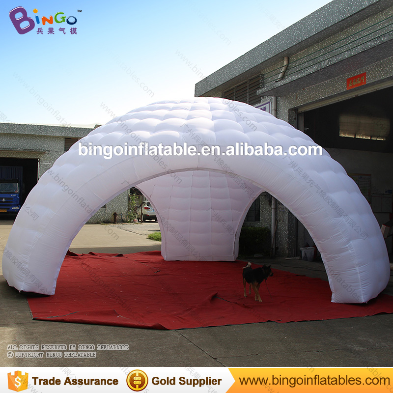 Free shipping 7M all white inflatable dome igloo tent with three legs for wedding party portable blow up event canopy toy tents factory direct sale 6x6x3 5 m inflatable dome igloo tent for outdoor event high quality blow up all white yurt tent toy tent