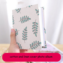 5 inch 6 100 sheets Cloth small clear album photo this insert type family