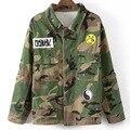 Women Streetwear Camouflage Jackets Boyfriend Style Military Outwear Ladies Long Sleeve Jacket Blouses Casual Coat 07010716