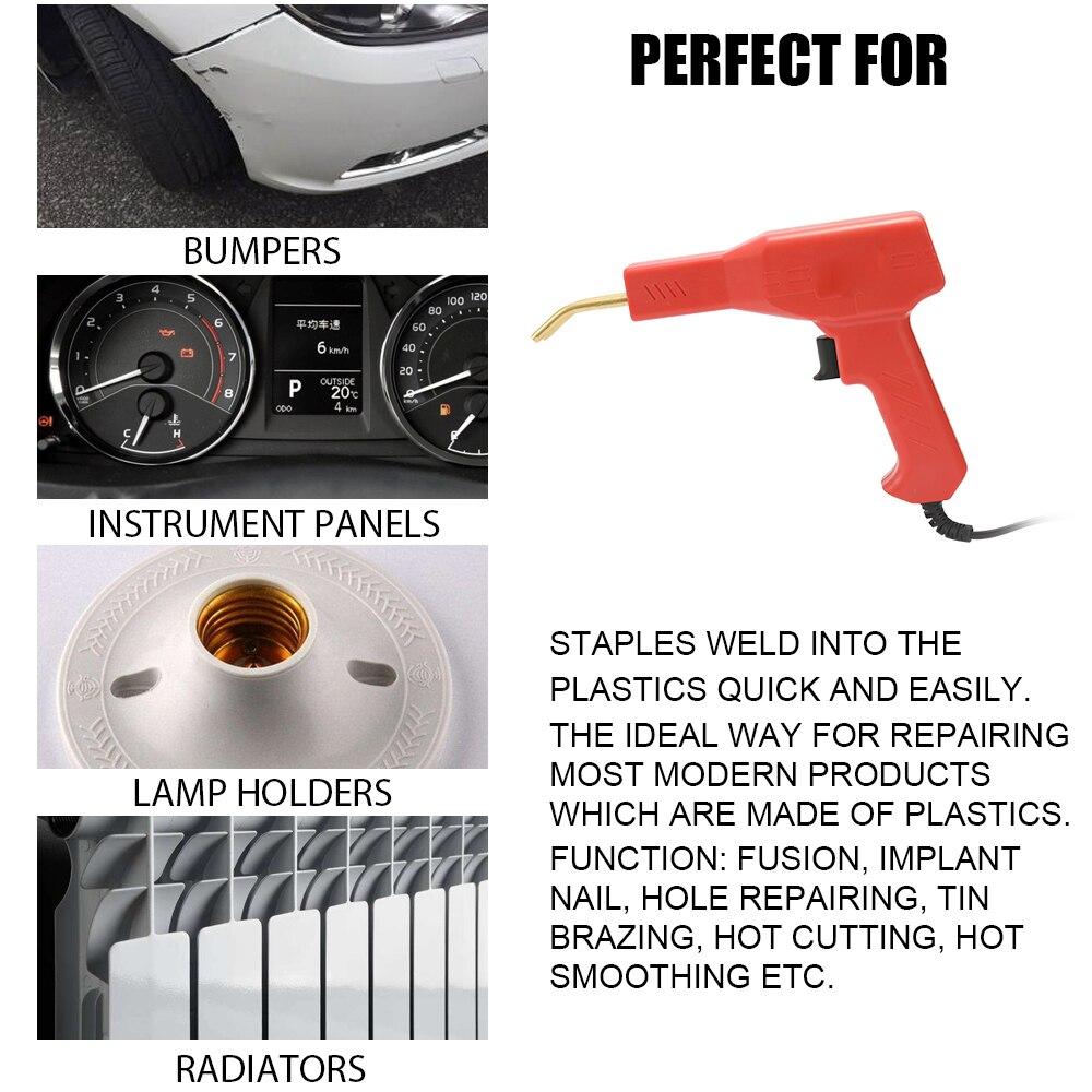 Image 2 - Handy Plastics Welder Garage Tools Hot Staplers Machine Staple PVC Repairing Machine Car Bumper Repairing Hot StaplerPlastic Welders   - AliExpress