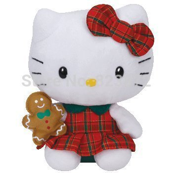 Ty Beanie boo Babies Hello Kitty Plush Doll Ginger Bread Winter Holiday  Christmas Toys Plush Toys Hello Kitty Car Accessories 3215dc37a1d