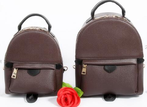 2017 Emarald bag Fashion quality Genuine Leather canvas Women bag Ladies Palm Springs Backpack free shpping free shipping classic women palm springs backpack bag fashion brand canvas real leather bagsa
