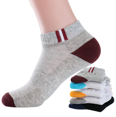 5 Pairs Mens Autumn Summer Socks Classic Patchwork Mesh Breathable Cotton Men Short Sock High Quality Deodorant Male Socks