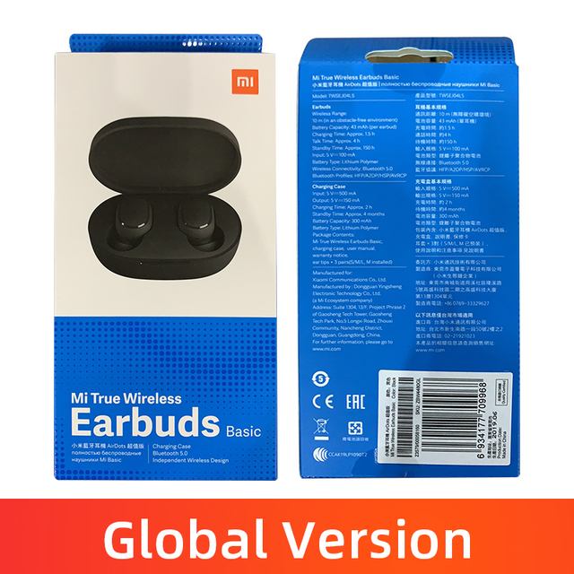 Stock Original Xiaomi Redmi Airdots TWS Wireless Bluetooth Earphone Stereo bass Bluetooth 5 0 With Mic