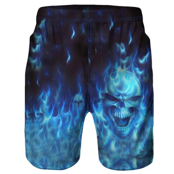 Men 3D Skull Print Casual Shorts High Quality Beach Wear