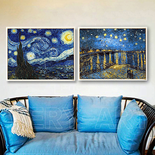 Starry starry night over the Rhone Van Gogh painting ...