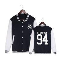 HPEIYPEI KPOP Korean Fashion MONSTA X I.M JOOHEON MINHYUK SHOWNU Album Cotton K POP Baseball Jacket Coat PT229