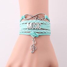 Infinity Love Music Note Bracelet