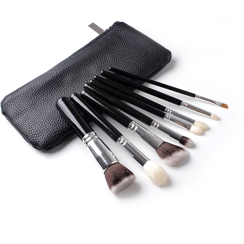 8pcs Makeup Brushes Rose Gold GOLDEN COMPLETE Cosmetic Brush Foundation Eyeshadow Eyeliner Lip Brush Kits With PU Leather Bag new store free shipping beauty and the beast rose gold makeup brush cosmetic brush woman gift eyeshadow contour concealer