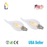 30 pack Dimmable Candelabra LED Bulbs 2700K Flame Tip E12 LED Bulb for Indoor Lamp