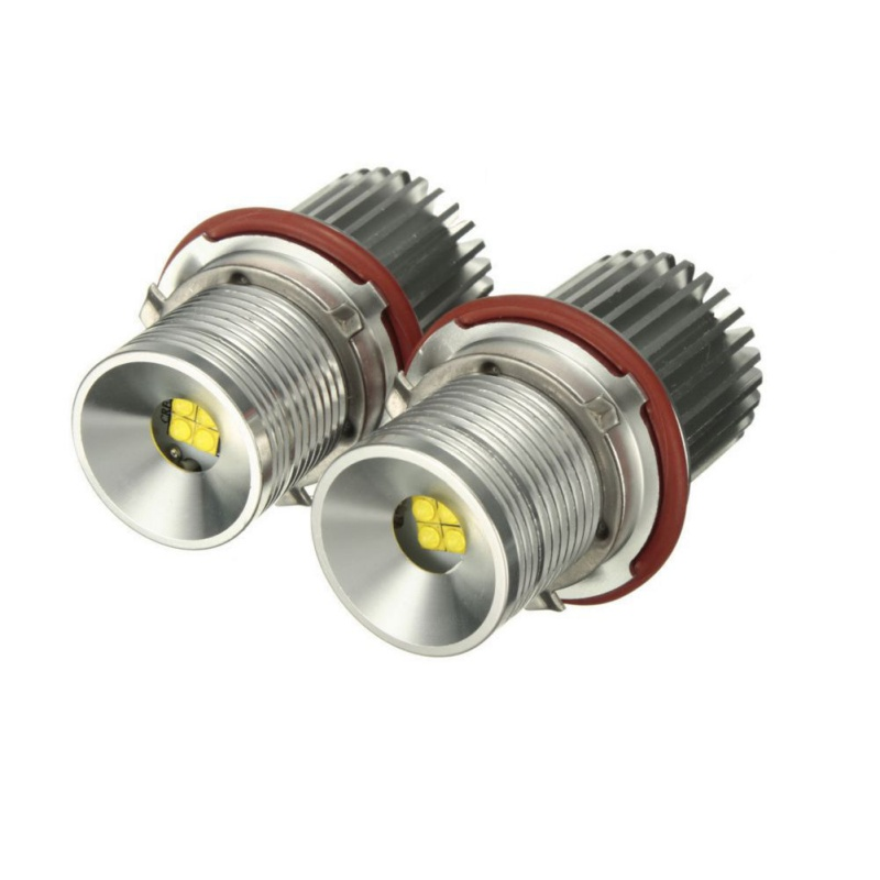 LED Marker 2 *  40W Create LED Chips Headlight Angel  White / Red / Blue / Yellow For BMW E65 E87 E39 E60 E61 New