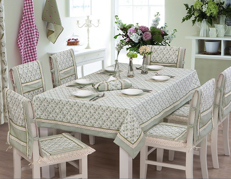 Green plant and lace edge Pastoral fabric tablecloth dining chair cushion  coverings suit rectangle square tablePopular Dining Chair Cushion Covers Buy Cheap Dining Chair Cushion  . Pink Dining Chair Cushions. Home Design Ideas