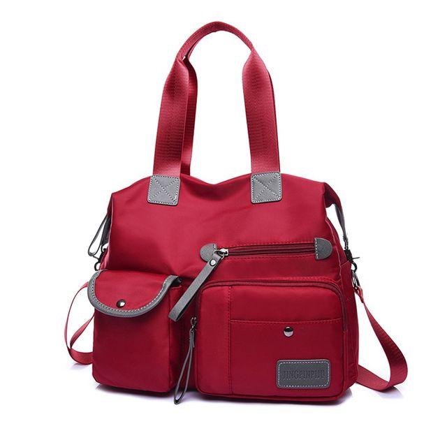 DCOS New Ladies Fashion Waterproof Oxford Tote Bag Casual Nylon Shoulder Bag Mummy Bag Large Capacity Canvas Bag 4