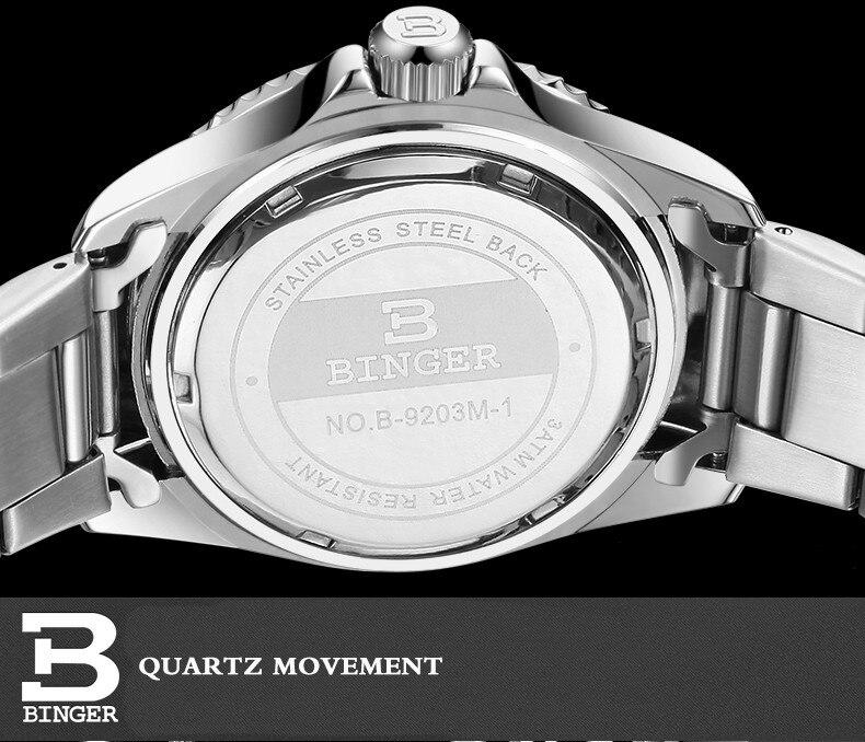 BINGER famosos relojes de marca surf hombres deportes relojes de ... 485e57cd5e7