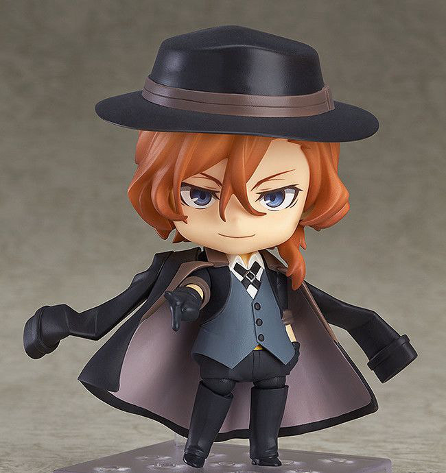 Bungo Stray Dogs Dazai Osamu Nakahara Chuya Nakajima Atsushi Q version 10CM Nendoroid PVC Action Figures Collectible Model Toys captain america civil war iron man 618 q version 10cm nendoroid pvc action figures model collectible toys