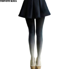 4022 Free Shipping!Gradient Tights Women for Velvet Material Colorful Design of Fashion Collant