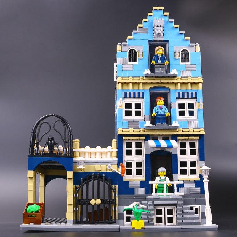 15007 Factory City Street European Market Model 10190 Building Block Bricks Kits DIY Educational Toys For Children Gift Lepin 10190 2016