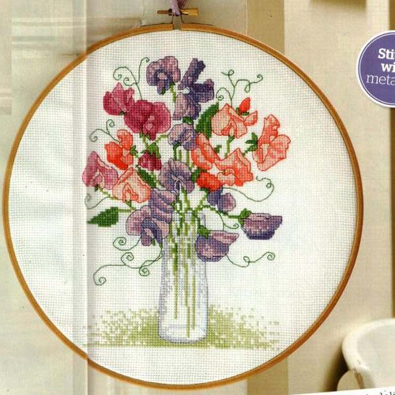 sweet pea embroidery # 18