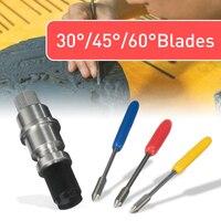 1pc graphtec cb09 silhueta cameo titular + 15 pçs lâminas cortador de vinil plotter 30/45/60 graus cameo silhueta cb09