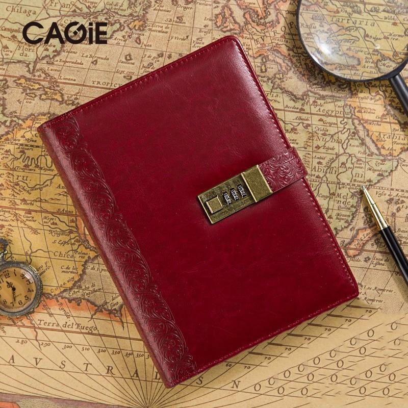Cagie 2016 Vintage wachtwoordvergrendeling Spira Kladblok Zakelijk - Notitieblokken en schrijfblokken bedrukken - Foto 1